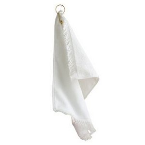 Anvil / Cotton Deluxe Fringed Fingertip Towel with Corner Grommet and Hook