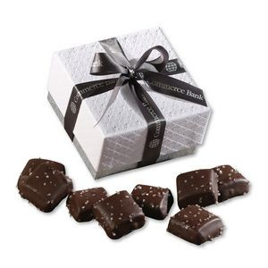 Chocolate Sea Salt Caramels in Pillow Top Gift Box