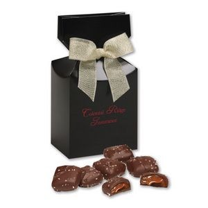 Chocolate Sea Salt Caramels in Black Gift Box